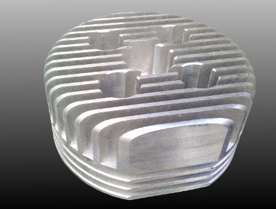 Cylinder head for motorised bicycle